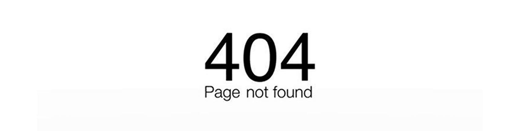 Erreure 404